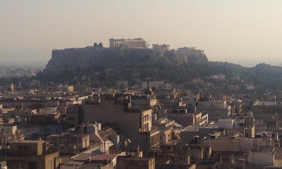 Athens view parthenon